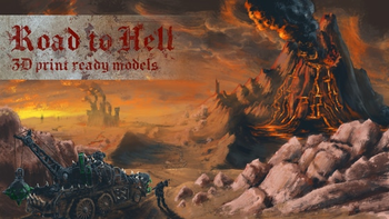 The Road to Hell - 3D Print-Ready Models board game