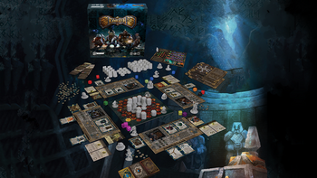 Beneath - A semi-cooperative Dwarven mining dungeon crawl. board game