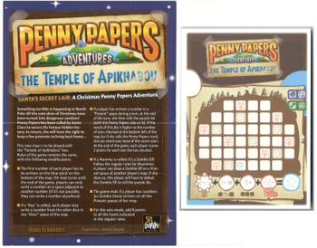 Penny Papers Adventures: The Temple of Apikhabou – Santa's Secret Lair board game