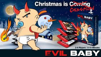 Evil Baby VS Christmas board game