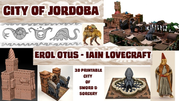 City of Jordoba: 3D Printable Terrain by Otus and Lovecraft board game