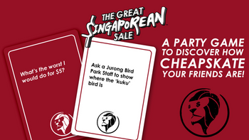 THE GREAT SINGAPOREAN SALE: Discover the cheapskate in you! board game