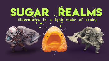 Sugar Realms: Candy Golem STL files and a new 5e race board game
