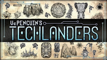 TECHLANDERS Sci-Fi RPG Tokens and Assets board game