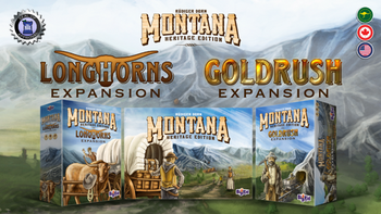 Montana: Goldrush & Longhorns (Heritage Edition Expansions) board game