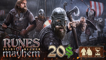 Runes of Mayhem - The Tactical Viking Game: Relaunch board game