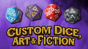 Custom Dice, Art & Fiction board game