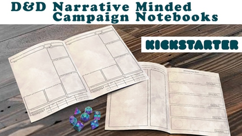 A Better DnD Campaign Notebook board game
