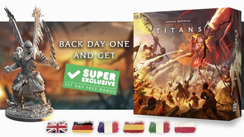 TITANS: historical fantasy miniature board game board game