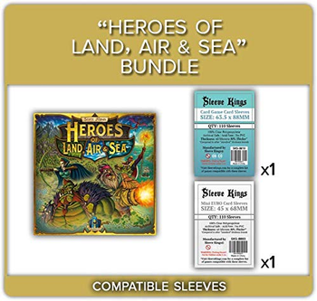 Heroes of Land, Air, & Sea: All In Compatible Card Sleeves Bundle