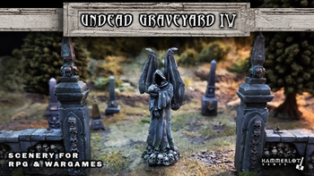 Undead Graveyard IV - Scenery for RPG and Wargames board game