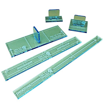 LITKO Small Scale Gauge Set Compatible with DBA 3.0, Transparent Light Blue (5) board game