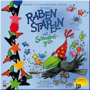 Raben Stapeln mit Schnabelgrün board game