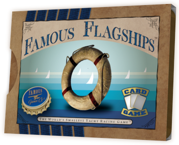 Famous Flagships: The World's Smallest Yacht Racing Game board game