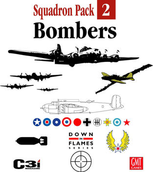 Down in Flames Squadron Pack 2: Bombers board game