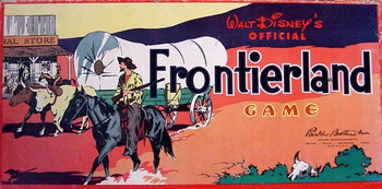 Walt Disney's Frontierland Game board game