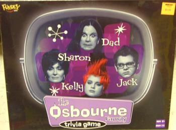 The Osbourne Family Trivia Game board game