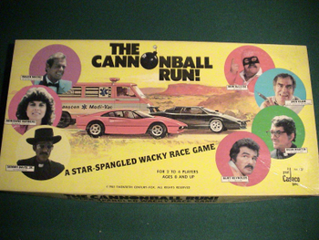 The Cannonball Run board game