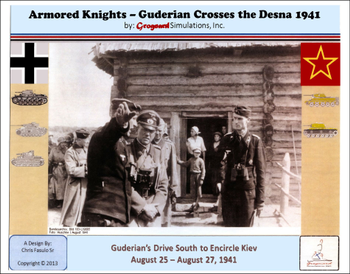 Armored Knights: Guderian Crosses the Desna 1941 board game