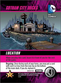 DC Comics Deck-Building Game: Gotham City Docks Promo board game