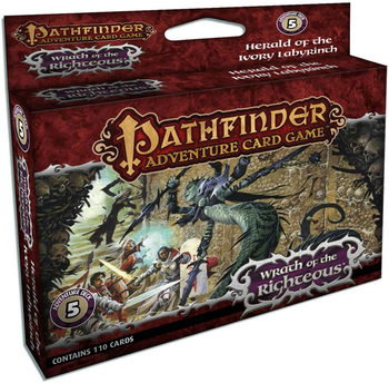 Pathfinder Adventure Card Game: Wrath of the Righteous Adventure Deck 5: Herald of the Ivory Labyrinth board game