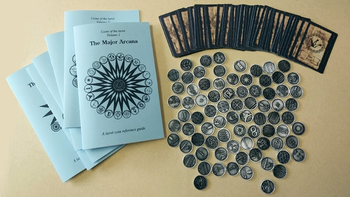 Coins of the Tarot --- Metal Coins for tarot readings