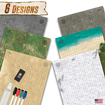 """Battle Grid Double Sided Game Mat - 24""""x36"""" (3 Pack) board game"""
