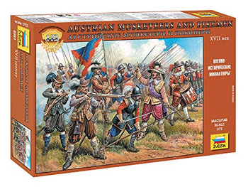 Austrian Musketeers and Pikemen 17th Century 1/72 Scale board game