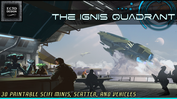 The Ignis Quadrant - 3D Printable Tabletop Models board game