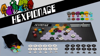 Hexpionage board game
