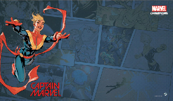 Marvel Champions: The Card Game - Captain Marvel Playmat