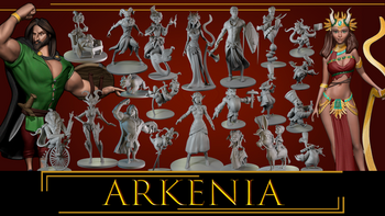 ARKANIA'S HEROES & CREATURES- STL Files for 3D Prints board game