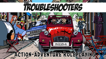 The Troubleshooters: action adventure tabletop RPG board game