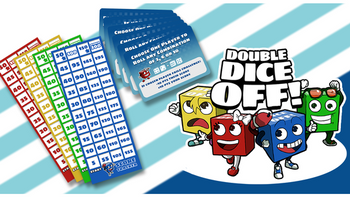 DOUBLE DICE OFF! board game