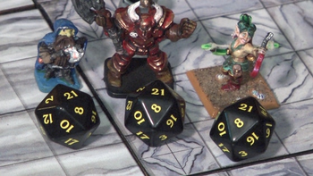 NAT 21: Over the Top Dice & Dungeon Tiles board game