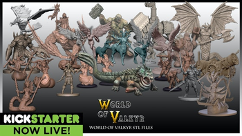 World of Valkyr fantasy STL board game