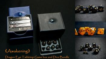 Awakening—Dragon Eye Tabletop Game box and Dice Bundle board game