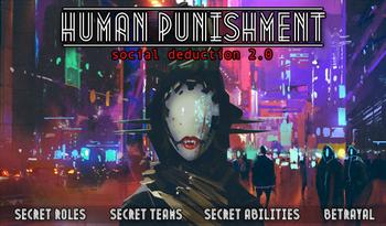 Human Punishment: Social Deduction 2.0 Bundle (Includes Base Game + Expansion) board game