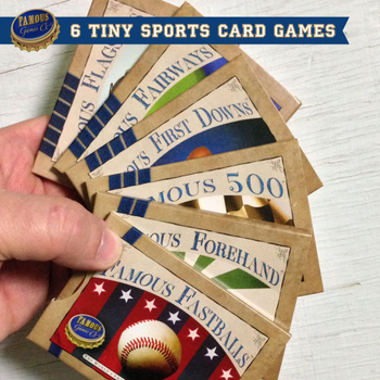 Famous Games - 6 Tiny Sports Card Games Bundle board game