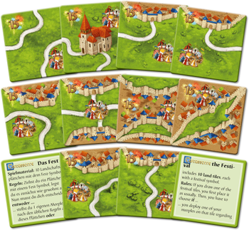 Carcassonne: Das Fest II board game