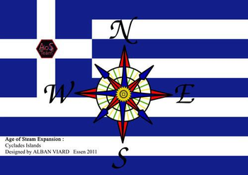 Age of Steam Expansion: Greece and Cyclades board game
