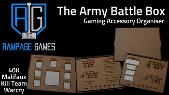 The Army Battle Box - Gaming Accessory board game