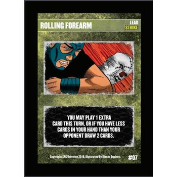 The Supershow: 07 Rolling Forearm Promo Card board game