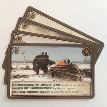 Scythe Kickstarter Promo Pack #1 - 4 Promo Encounter Cards (Stonemaier Games)