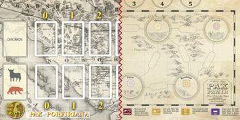 Pax Porfiriana / Pax Pamir Gameboard (Unfolded size 600 X 300 mm) board game