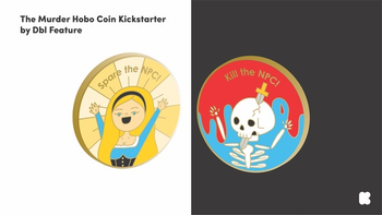 The Murder Hobo Coin board game