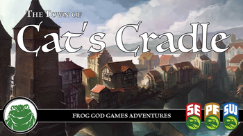 Cat's Cradle: A Fantasy Town for 5e and Other RPG Systems board game
