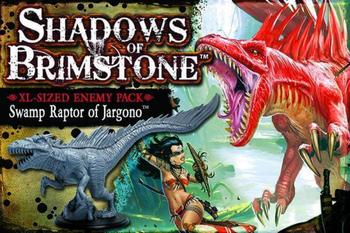 Shadows of Brimstone: Swamp Raptor of Jargono XL Enemy Pack board game