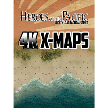 Lock 'n Load Tactical: Heroes of the Pacific 4K X-Maps board game