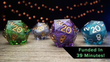 Elixir Dice: Handcrafted, Sharp Edged Liquid Core RPG Dice